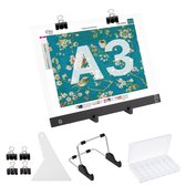 S.old - Diamond Painting LED Lightpad A3 Set - Incl. Standaard & Sorteerdoos - Lichtbak Voor Tekenen - Dimbaar