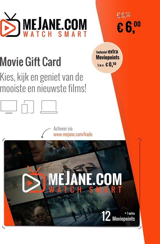 Film cadeau  | Movie Gift Card | Cadeaukaart | 1-2 films op meJane.com