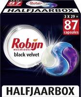 Robijn Black Velvet Wascapsules - 3 x 29 wasbeurten - Halfjaarbox
