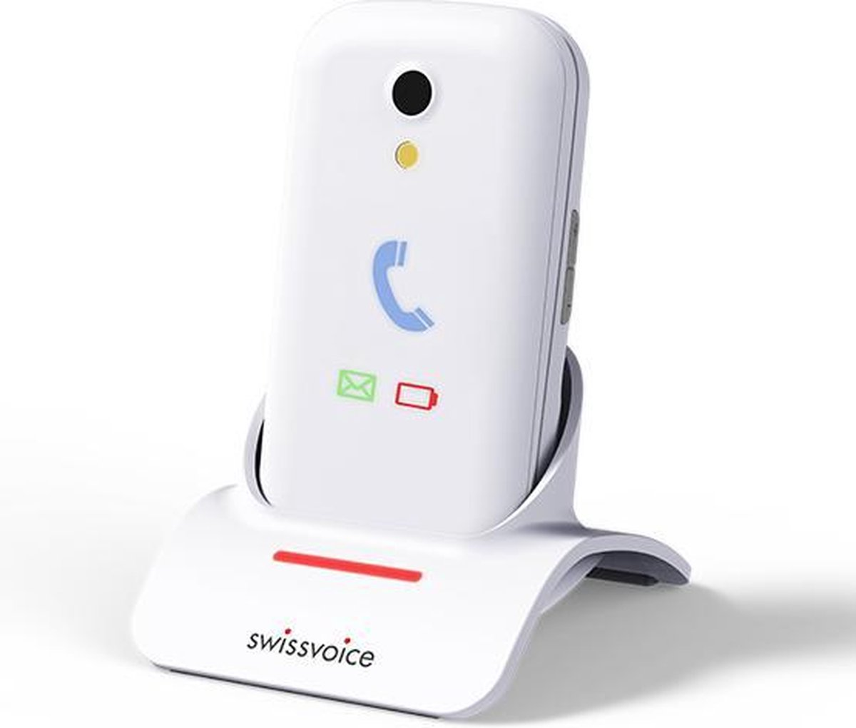 Swissvoice S28 | Wit | Senioren GSM | mobiele telefoon | eenvoudig opladen