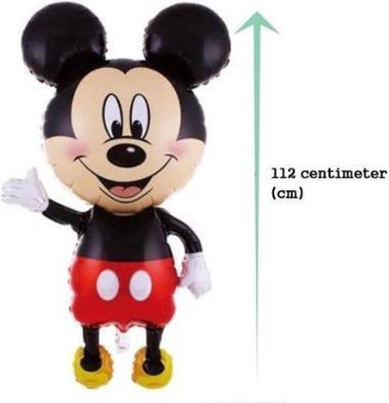 Partygoodz - XL Mickey Mouse  Folieballon - 112 CM Hoog - 65 CM Breed - Disney - Geschikt Voor Helium - Kinderfeestje - Verjaardag