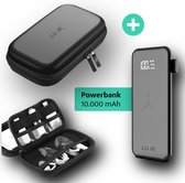 LURK® Hardcase travel organizer met draadloze powerbank 10.000mAh - kabels en hardeschijf etui - bureau organizer