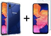 Samsung a10 hoesje shock proof case - Samsung galaxy a10 hoesje shock proof case hoes transparant - 1x Samsung Galaxy A10 Screenprotector Tempered Glass Screen Protector