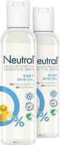 Neutral 0% Baby Huidolie Parfumvrij - 2 x 150 ml - Voordeelverpakking