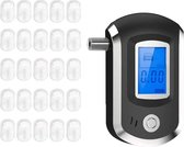 FEDEC Alcohol Tester - Blaastest - Inclusief 25 Mondstukjes - Zwart