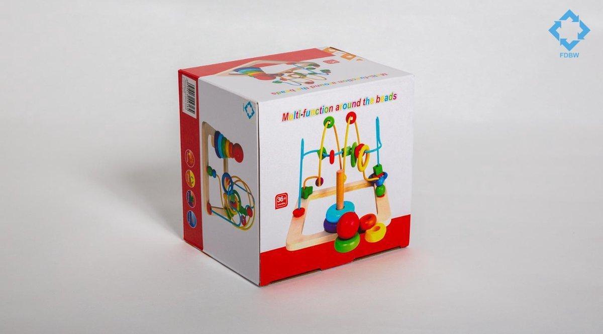 Houten Kralen Spel Diversen | Kralenspiraal Houten Speelgoed | Educatief Speelgoed - Speelgoed voor Peuter - Speelgoed voor Kleuter