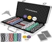 Pokerset - Texas Strong 300 Tokens pokerset + koffer - Professionele Pokerset - Zware fiches - Inclusief kaarten en dobbelstenen - Poker - Kaarten - Kaartspel - Dobbelen - 2021 new product