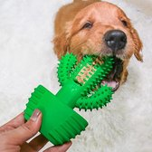 Tandenborstel Hond Melk Geur Smaak en Piep Honden Speelgoed Dog Toy - Cactus Tandverzorging Kauwbotten Hondenspeelgoed Hondenbot Kauwstaaf Tandpasta Tanden Puppy Hondenspeeltje Sterk Kauwspeelgoed Kong - Dutchwide®