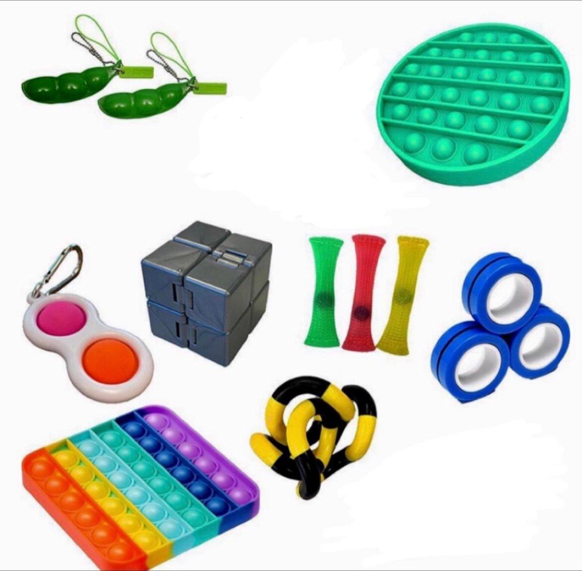 Pop it Fidget toys pakket set - Pop it - Pop All Up® - 13 Delig - Simple dimple  - Twister - Infinit