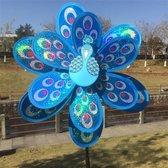 BrenLux - Windmolen – Kip windmolen BLAUW – Windmolen 65cm hoog x 29cm - Windmolen tuin - Tuindecoratie - Windmolen op staander - Tuininrichting – Vrolijke windmolen – Tuindecoratie