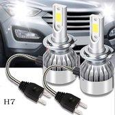 H7 LED lampen (set 2 stuks)  6000k CANbus geschikt Helder Wit 8000LM IP68 72 Watt / Motor / Auto / Scooter / Dimlicht / Grootlicht / Koplampen / Auto / 6500k / Autolamp / Autolampen / Lamp / Car Light /