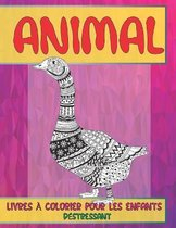 Livres a colorier pour les enfants - Destressant - Animal