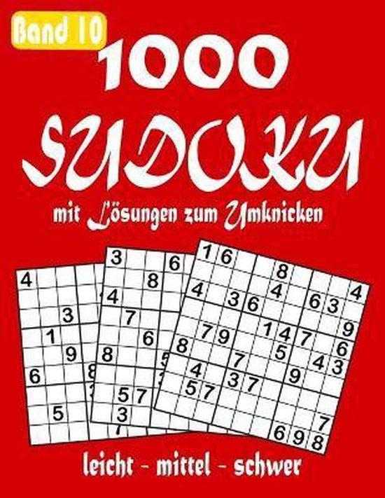 1000 Sudoku mit Loesungen zum Umknicken Band 10 leicht - mittel - schwer