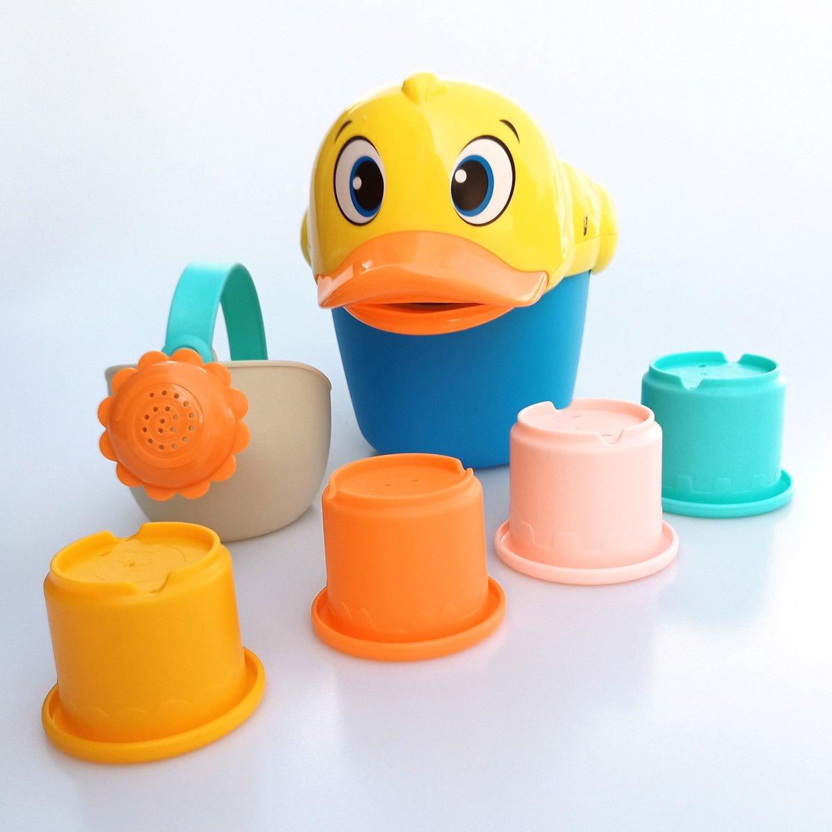 Jobber Waterplay Badspeelgoed - Badeend Emmer - Badspeeltjes Gieter