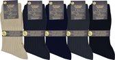 Heren sokken - VOLLEDIG NAADLOOS - 100 % egyptische katoen- 2 paar prachtige mannen kousen - blauw - maat 43/46  - ZONDER ELASTIEK VOOR BLOEDSOMLOOP