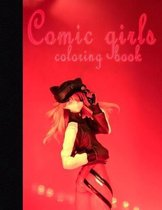 Comic girls coloring book