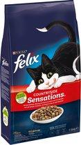 Felix Countryside Sensations Rund en Kip met Groenten - Kattenvoer - 7.5kg