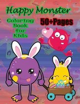 Happy Monster Coloring Book for Kids: A cute monster book that kids love