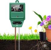 TIKKENS Vochtmeter Bodem Planten - Vochtigheidsmeter Planten - pH en Lichtmeter - 3 in 1 - Bloemen/Planten - Tuinaarde Testen - Vochtmeters