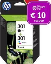 HP 301 - Inktcartridge kleur & zwart + Instant Ink tegoed