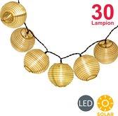 B.K.Licht - Lichtsnoer Buiten - solar - 6 meter - buitenverlichting - tuinverlichting  op zonneenergie - 30 LED's - IP44