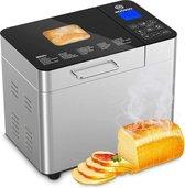 MOOSOO - Broodbakmachine - Digitaal display - 25 verschillende programma's - Broodbak handleiding - Broodbak recepten boek