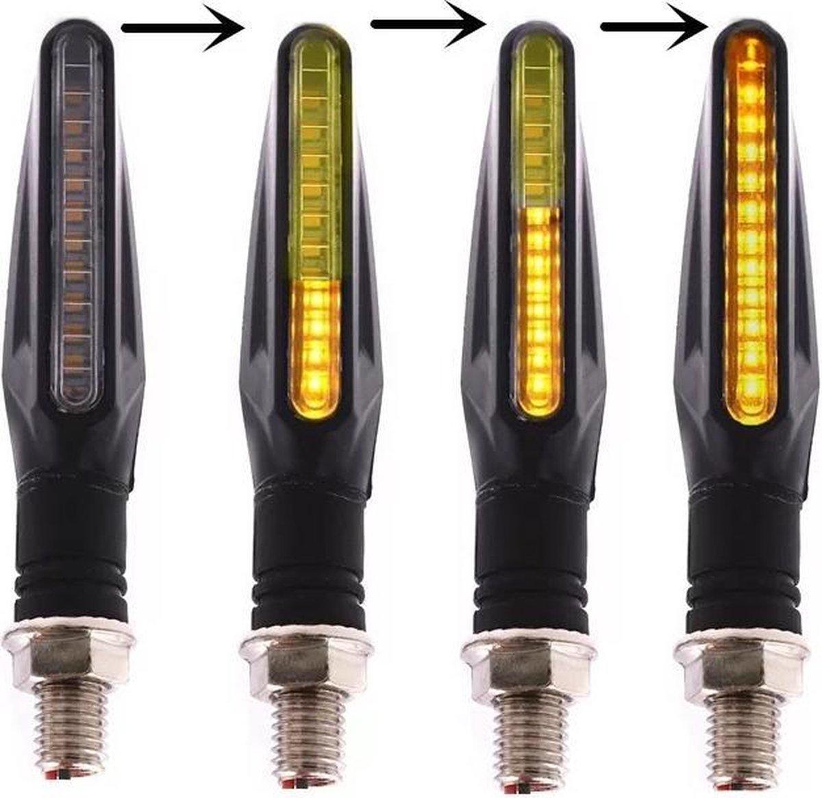 BikeMotion Dynamische LED Knipperlichten  - Motor/Scooter/Brommer - Audi/VW Style - Set van 2 stuks
