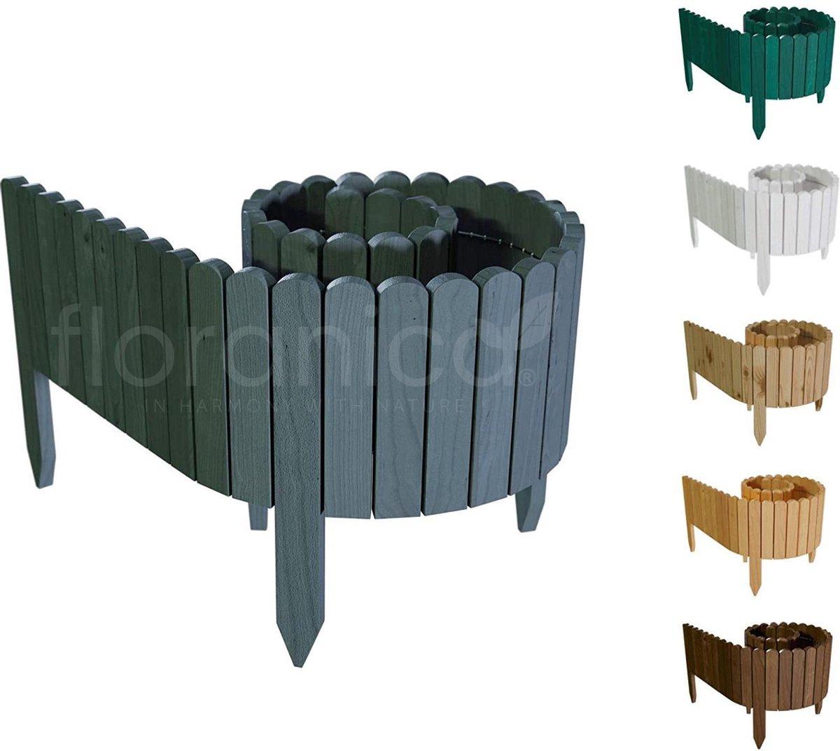 Floranica® Rollborder - 203x10cm - Hout - Antraciet