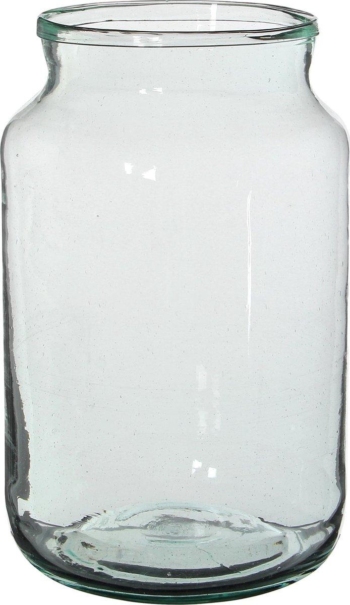 Mica Decorations Vienne Vaas - H30 x Ø18 cm - Gerecycled Glas - Transparant