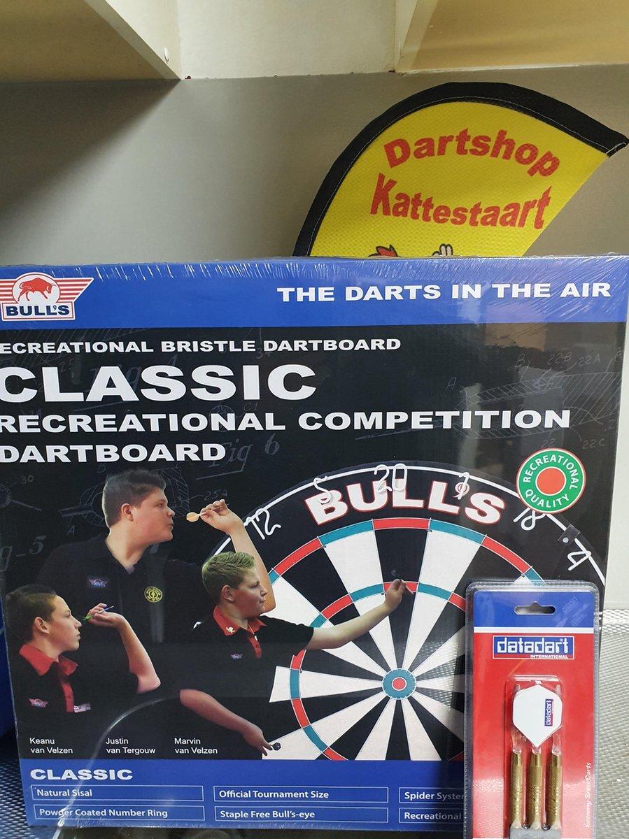 Bull's dartbord Classic + 1 set Datadart Brass darts