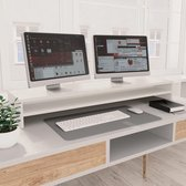 Monitorstandaard 100x24x13 cm spaanplaat wit