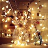 Lampjes slinger - 6m - 40 LED's - Warm Wit - Op Batterijen