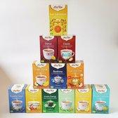 Yogi Tea top 12 - bestsellers - 12 verschillende smaken - 12 pakjes x 17 theezakjes