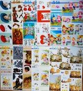 10x Le Suh 3D knipvellen  - Voor elk wat wils - Maak prachtige kaarten en scrapbook - Inhoud verschillend per pakket