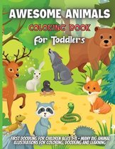 Awesome Animals Coloring Book For Toddlers