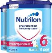 Nutrilon Peuterplusmelk 6 - Flesvoeding vanaf 3 jaar - 2 x 400 gram