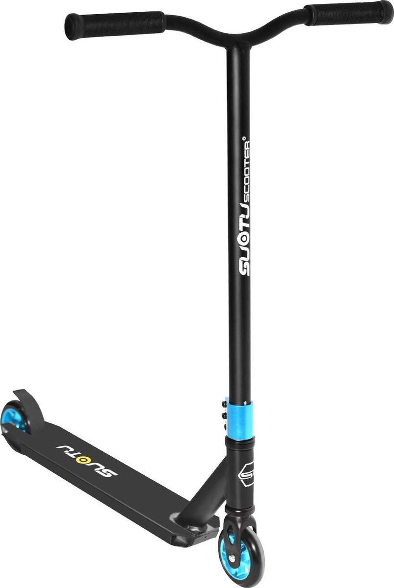 SUOTU R10 Step| Vanaf 6 jaar | Voetrem | Stuntstep| Niet-Elektrisch| Aluminium Velgen | Blauw