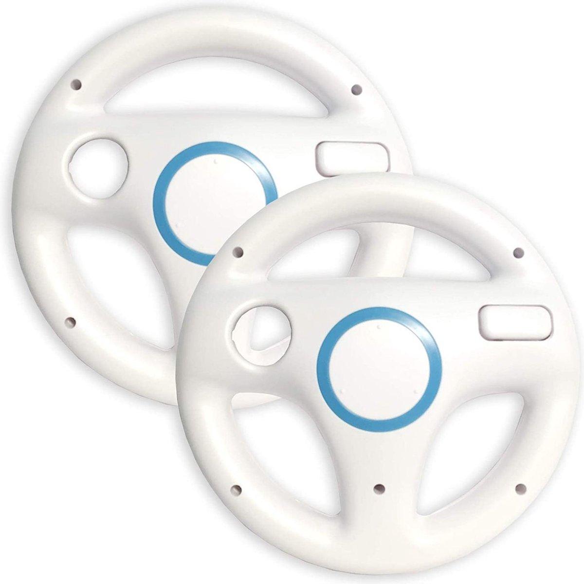 Cablebee Stuur / Wheel voor Nintendo Wii / Wii U Wit - 2 Stuks