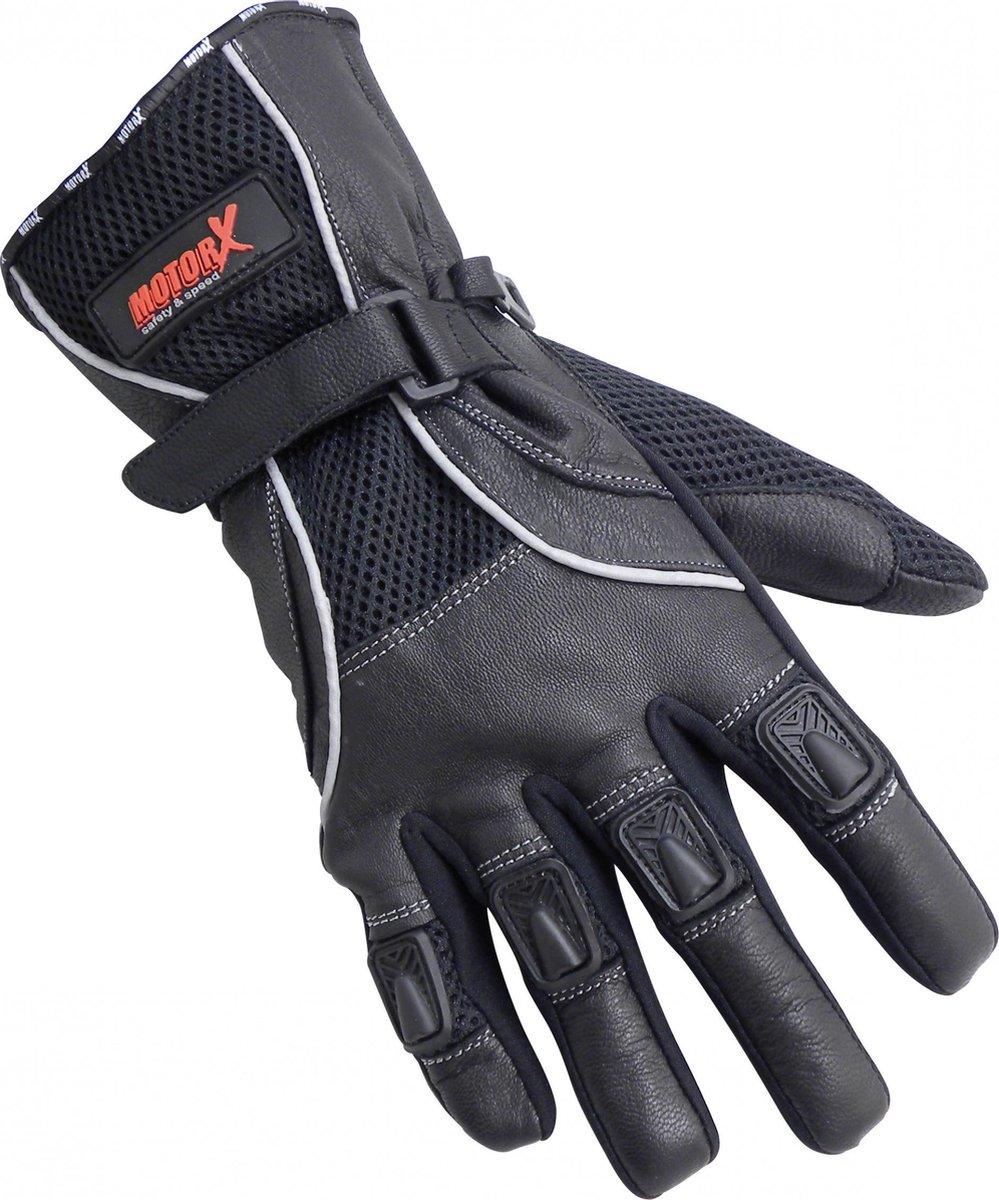 Motorhandschoenen - Echt leder - zomer- zwart - XL -MotorX