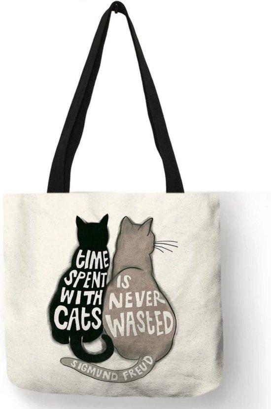 Kattenhebbedingen - Tas - Kat - Poes - Voor de kattenliefhebber - Time spent with cats