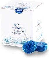 Starbluedisc toiletblok jaarverpakking a 24 stuks blauw