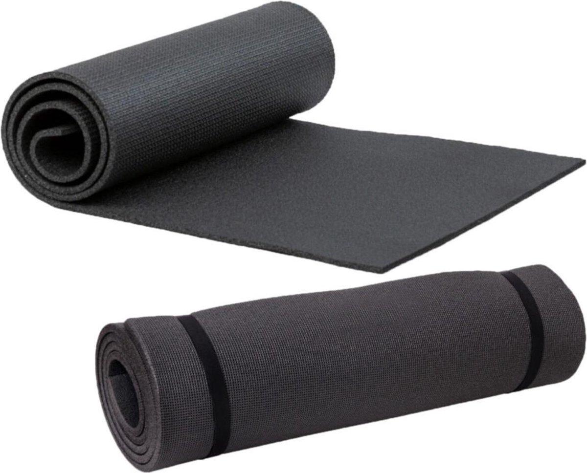 Yogamat - Fitness Mat - 16mm - Zwart -Extra Dik - Pilates Mat - Sport Mat