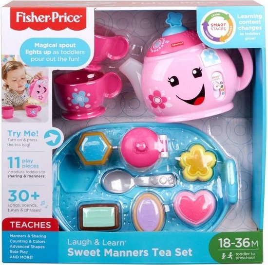 Fisher-Price Leerplezier Goede Manieren Theeservies - Speelgoedservies