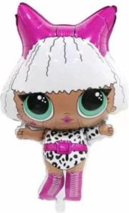 L.O.L. ballon - Surprise - XL - 81x48cm - Panterprint - Versiering - Ballonnen - Thema feest -Folie ballon - Helium - Leeg - Verjaardag - LOL ballon - Speelgoed - LOL - Surprise - Dolls