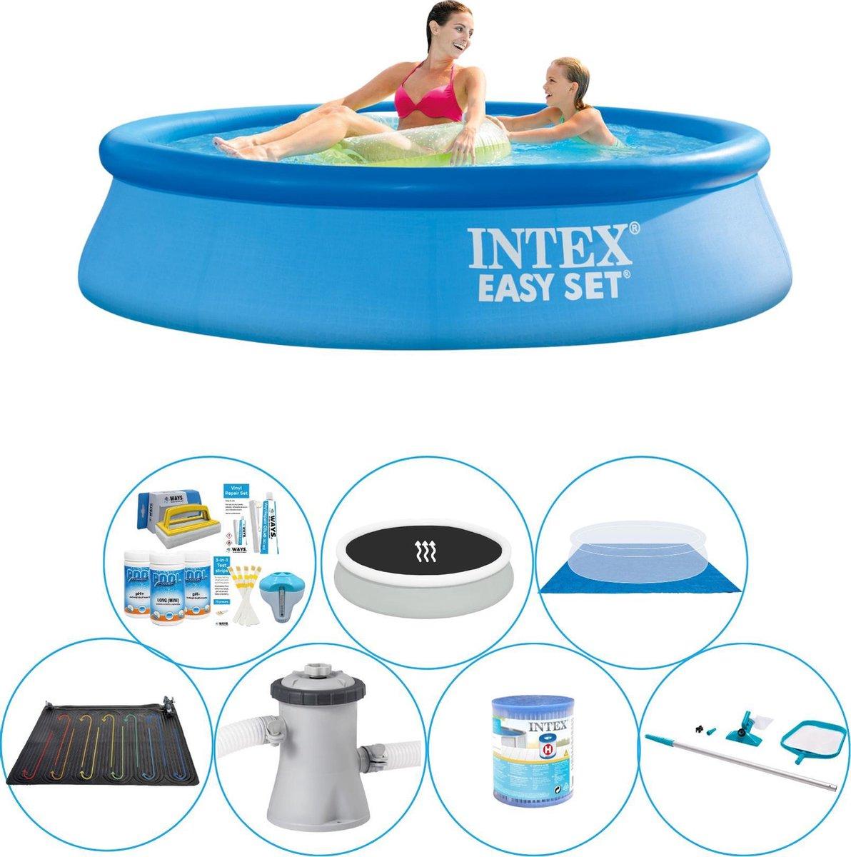 Intex Easy Set Rond 244x61 cm - Zwembad Comfort Pakket