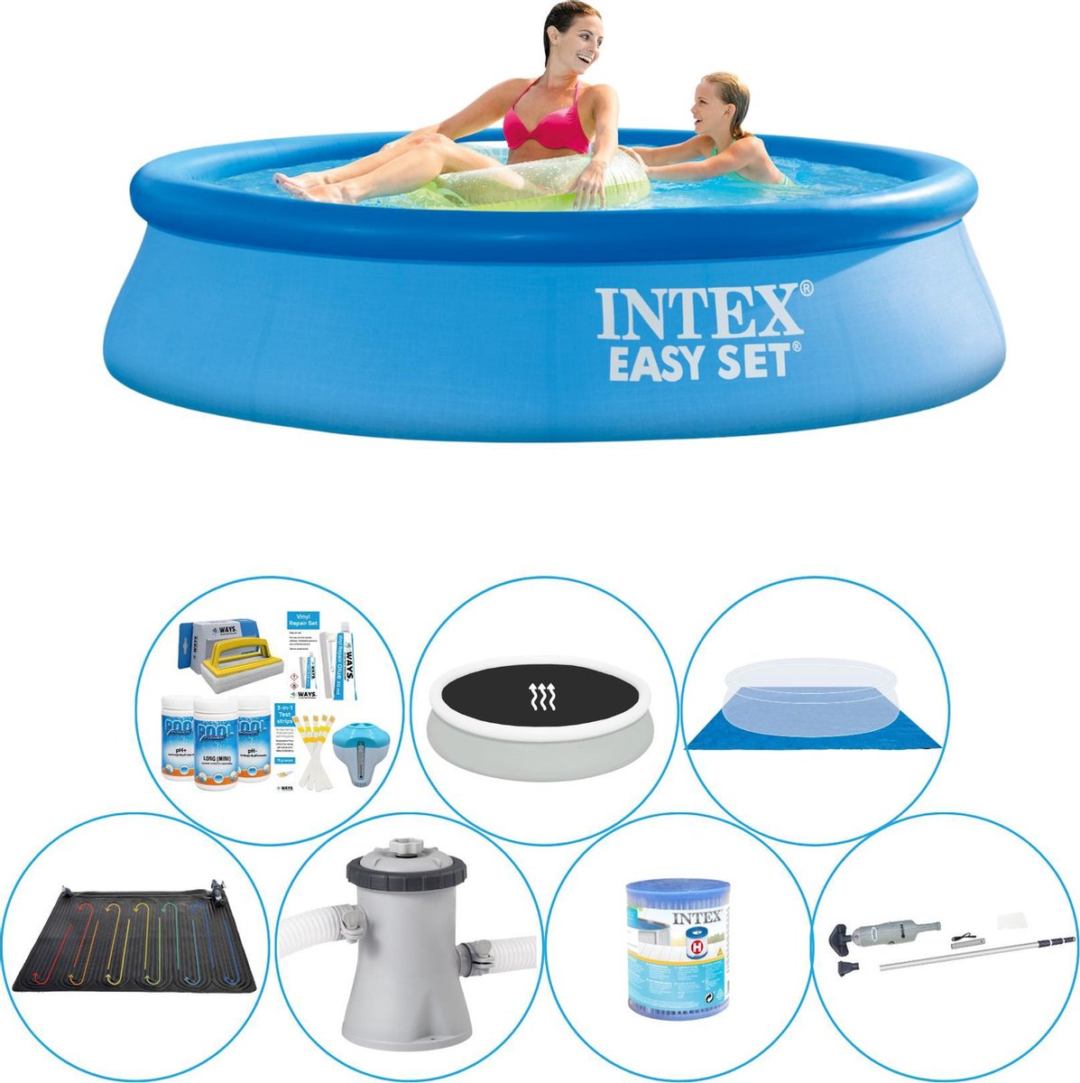 Intex Easy Set Rond 244x61 cm - Zwembad Super Set