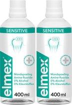 Elmex Mondwater Sensitive - 2 x 400 ml - Voordeelverpakking