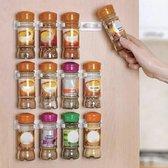 kruidenhouder - Ophangbaar Kruidenrek voor 20 kruiden potjes - Spice Rack - Keuken Rek - Kruiden Organizer - Specerijen Opbergen -  spice holder - Wit