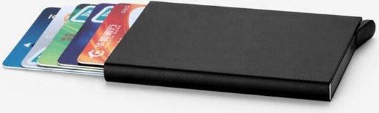 Creditcardhouder - Pasjeshouder - Uitschuifbaar - RFID Protected - Zwart - Luxe Design - Voor Mannen En Vrouwen