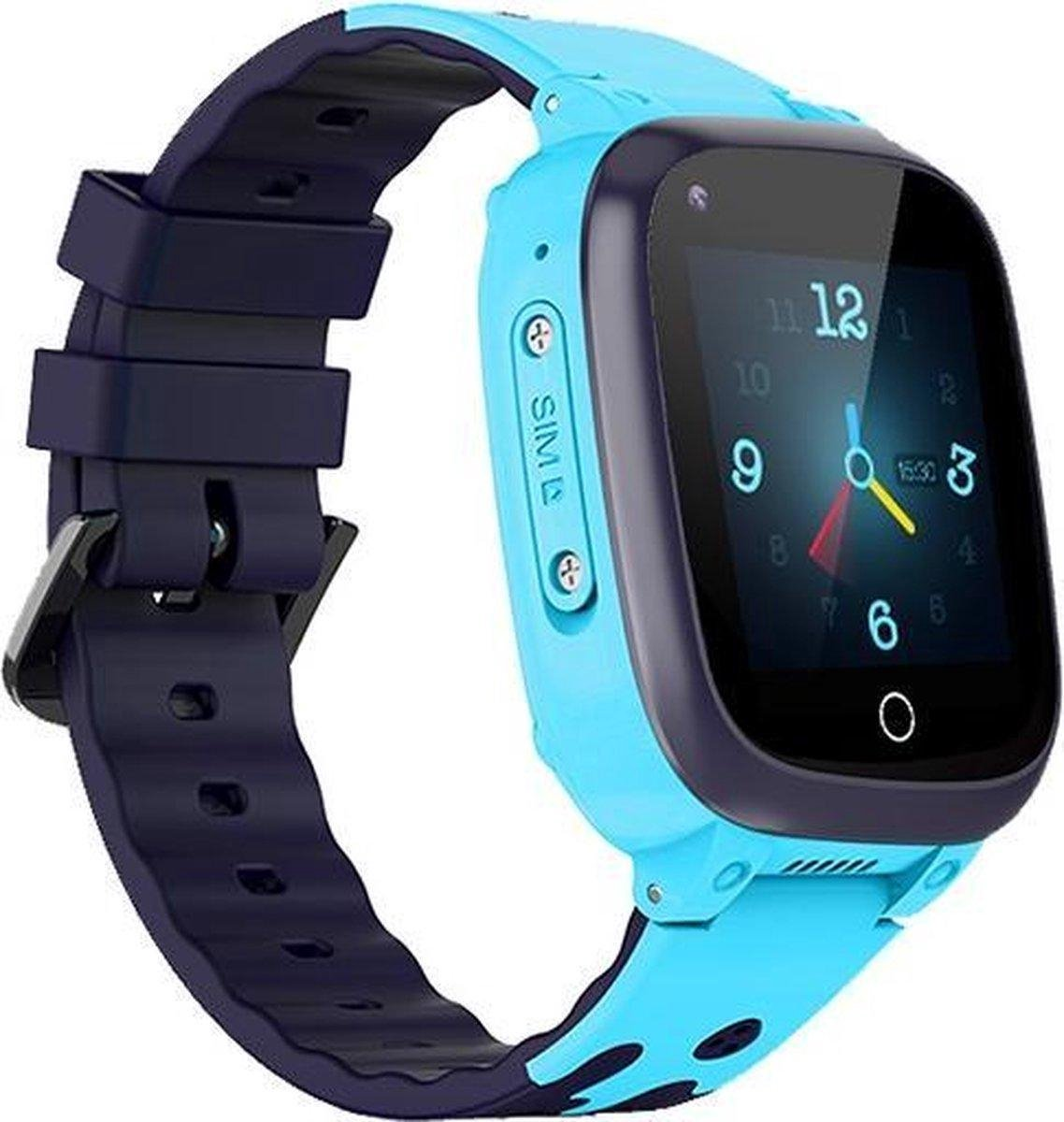GPS Horloge Kind 4G Upgrade - GPS Tracker Kind - Blauw - GPS Horloge kinderen